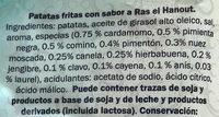 Patatas Fritas sabor Ras el Hanout - Ingredientes