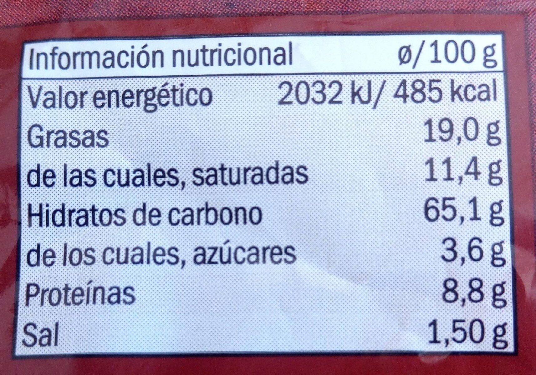 Kikos - Información nutricional - es