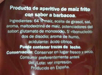 Tiras de Maíz - Ingredients