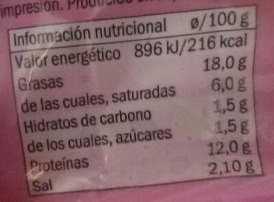 Saucisse de Frankfort - Información nutricional - fr