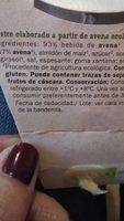 Bio Avena - Ingrédients - fr