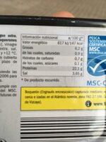 Boquerones del Cantábrico - Información nutricional - es