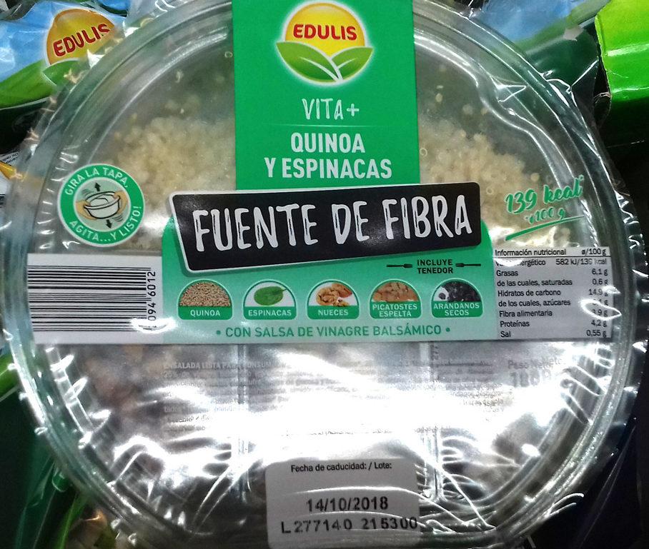 Ensalada Quinoa y Espinacas - Product