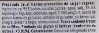 2 Burgers Vegetales de Judias con Esparragos y Gengibre - Ingrédients - es