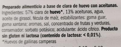 Loncheado con Aceitunas - Ingredientes