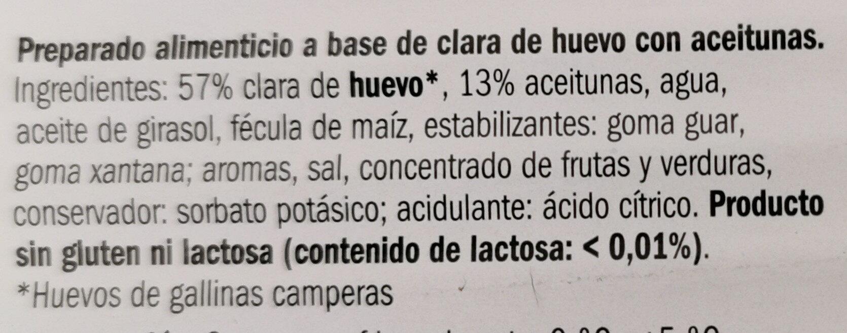 Loncheado con aceitunas - Ingredients - es