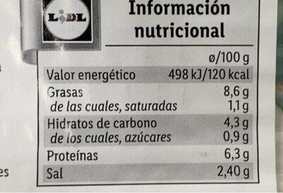 Loncheado con verduras - Voedingswaarden - es