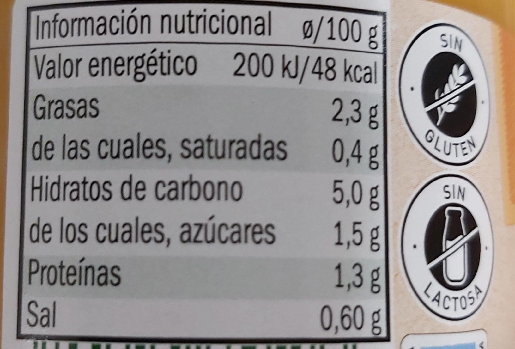 Crema de calabaza - Informations nutritionnelles - es