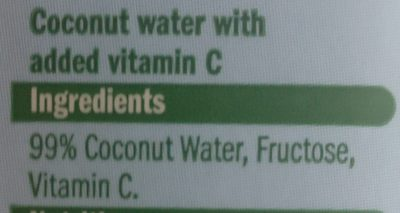 Coconut Water - Ingredients - en