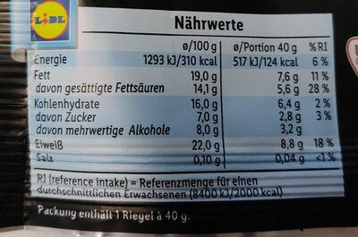 High protein Quarkriegel - Voedingswaarden - de