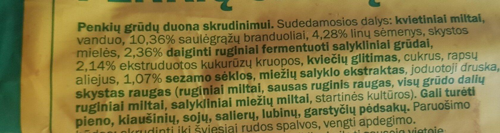 Five-grain bread - Ingredients - lt