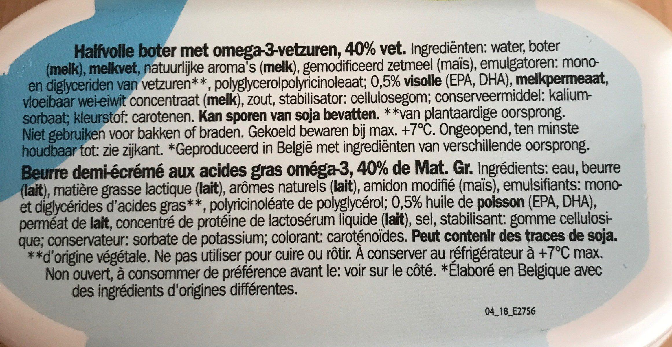 Beurre demi-écrémé - Ingrediënten
