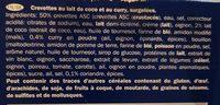 Cassolettes de Scampis au Curry - Ingredients - fr