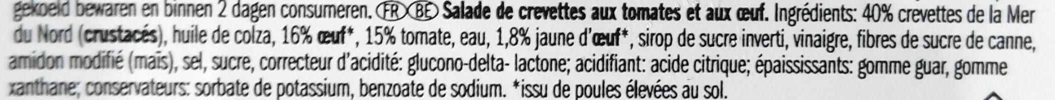Salade tomates-crevettes - Ingrediënten - fr