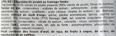 Chipolata de poulet au fromage - Ingrediënten