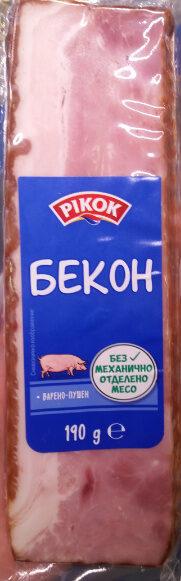 Бекон, варено-пушен месен продукт. - Product