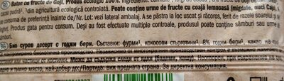 Bio raw bar - Ingredients - en