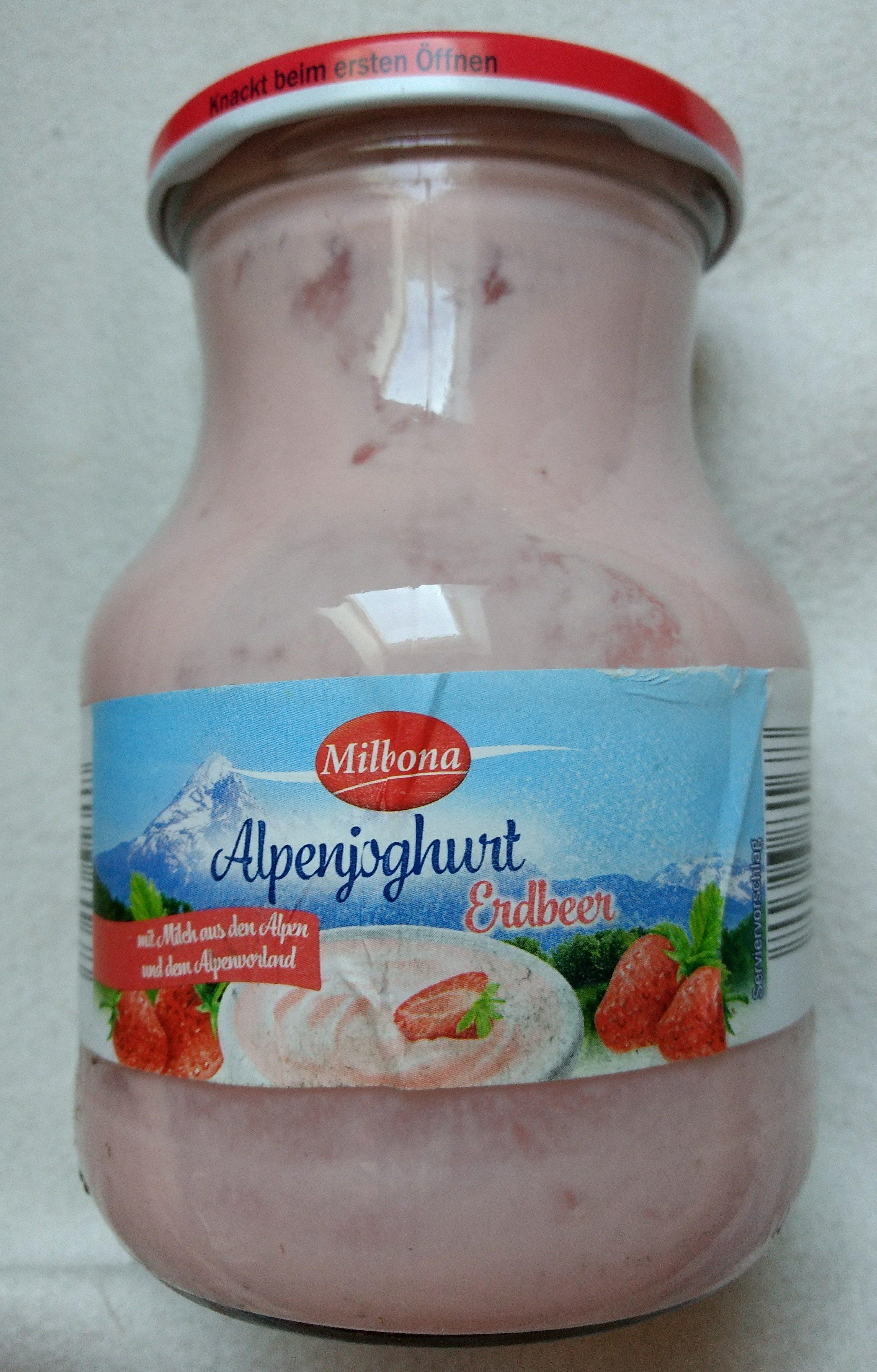 Alpenjoghurt Erdbeer - Produkt