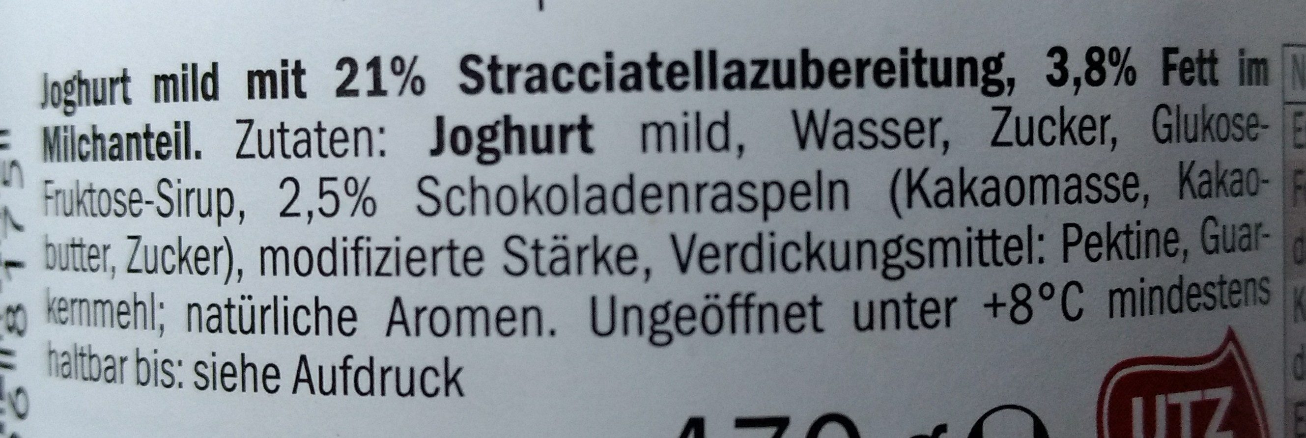 Alpenjoghurt Stracciatella - Ingrediënten - de