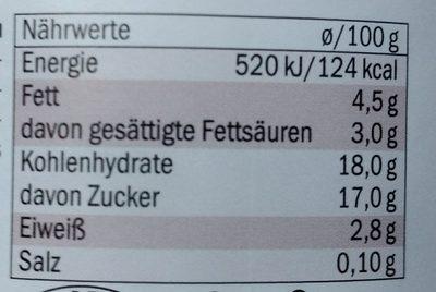 Alpenjoghurt Stracciatella - Voedingswaarden - de