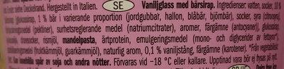 Vemondo Dairy Free Ice Cream Vanilla & Forest Fruits - Ingrédients - sv