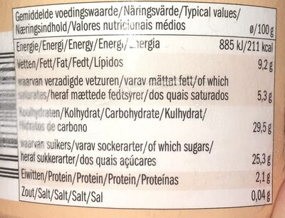 Dairy Free Ice Cream Peanut and Hazelnut - Informations nutritionnelles - sv