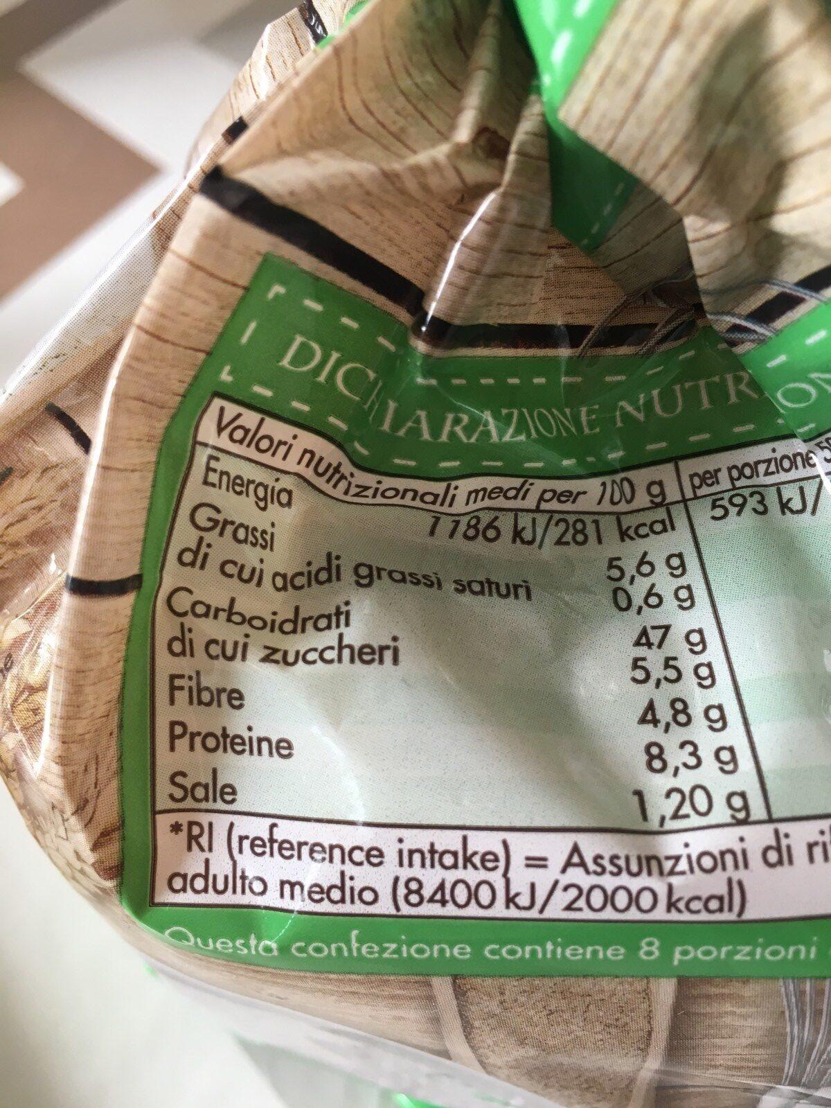Pain de mie-pan bauletto cereali e soia - Ingrédients - fr
