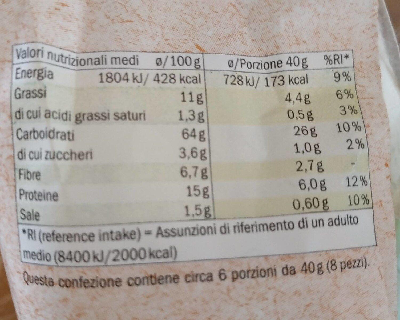 Bio riccioli - Nutrition facts - it