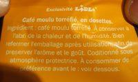 Café doux - Ingrédients - fr