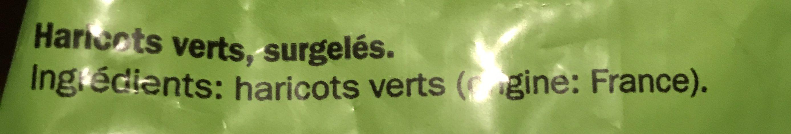 Haricots verts, surgelés - Ingrediënten