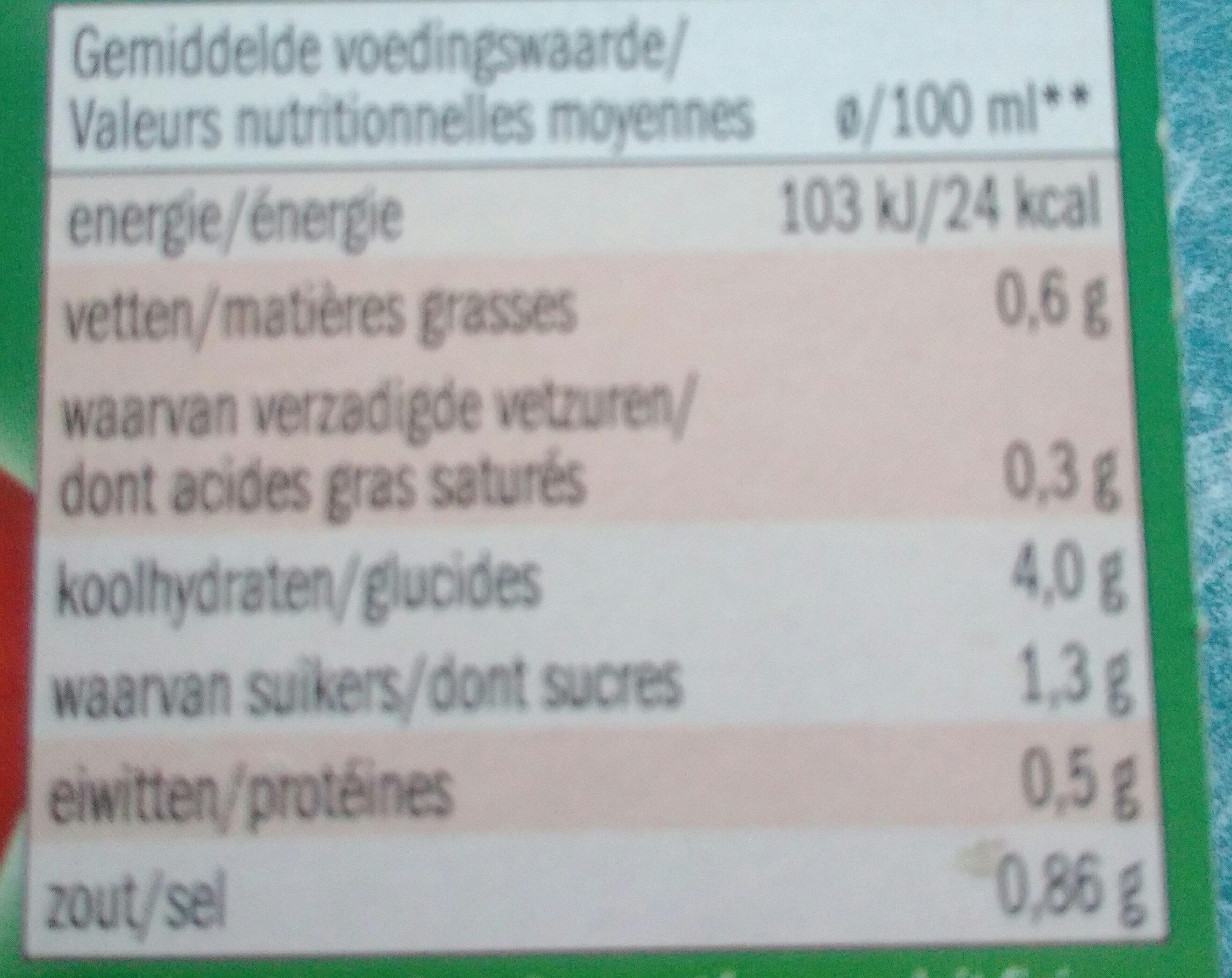 Soupe a la tomate - Voedingswaarden - fr