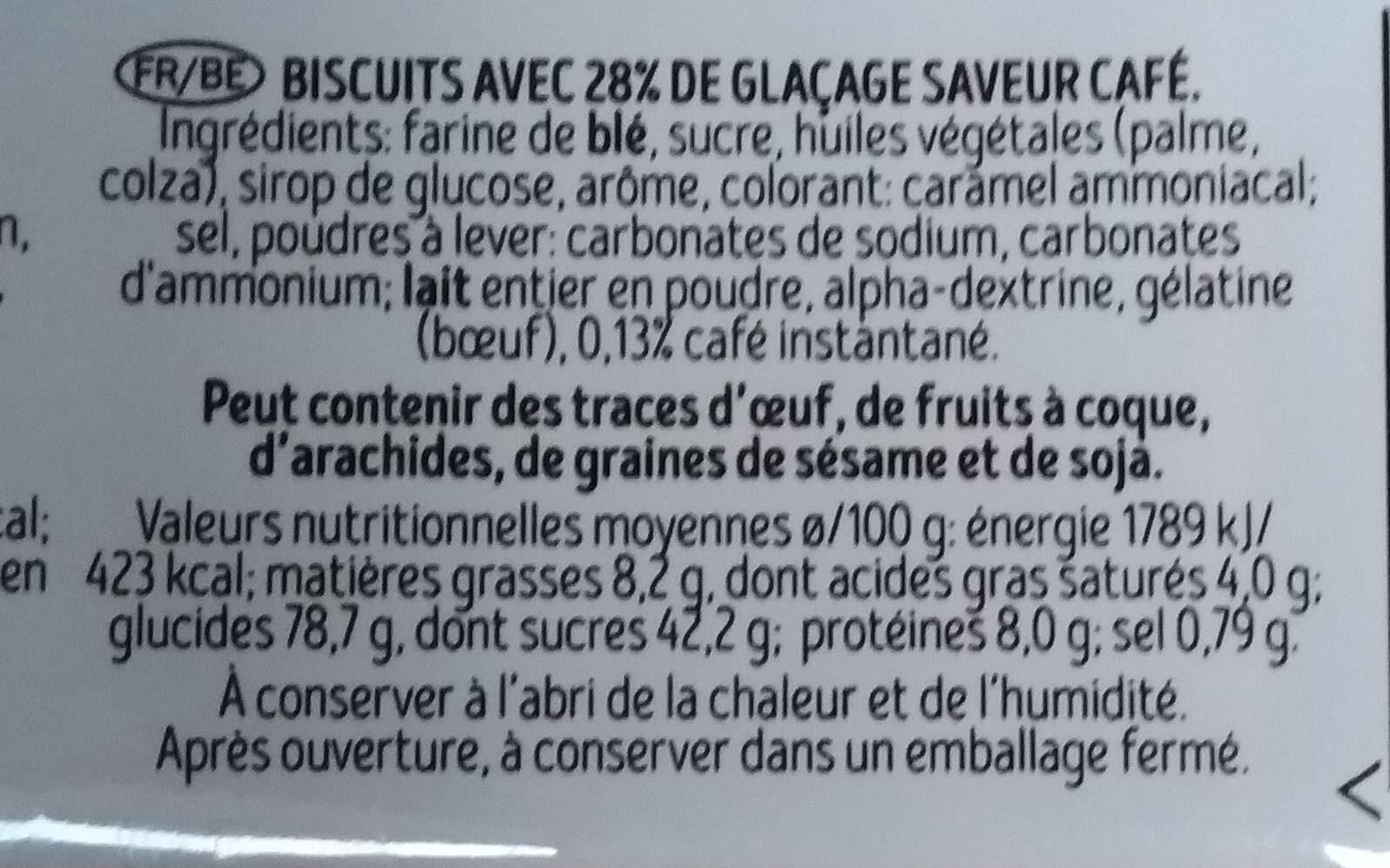 Café noir - Informations nutritionnelles