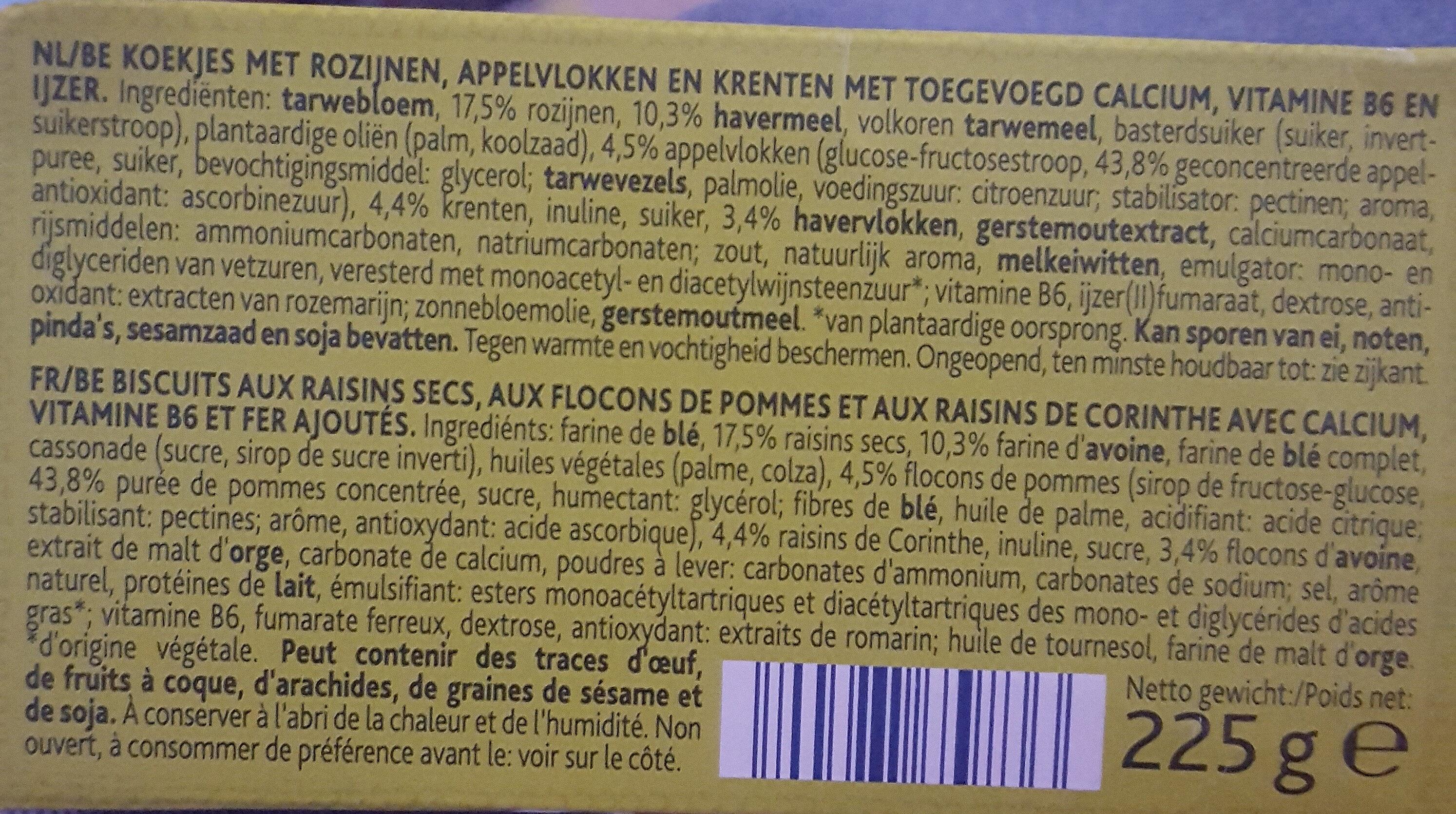 Haver Biscuits, Appel - Ingrediënten - nl