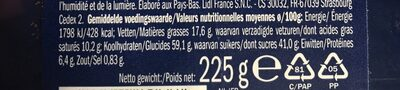 Soft Cookies Double Chocolate - Nutrition facts - fr