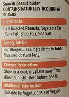 Whole Nut Smooth Peanut Butter - Ingredients - en