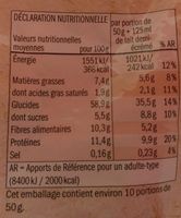 Bio Muesli Cereals and seeds - Nährwertangaben - fr