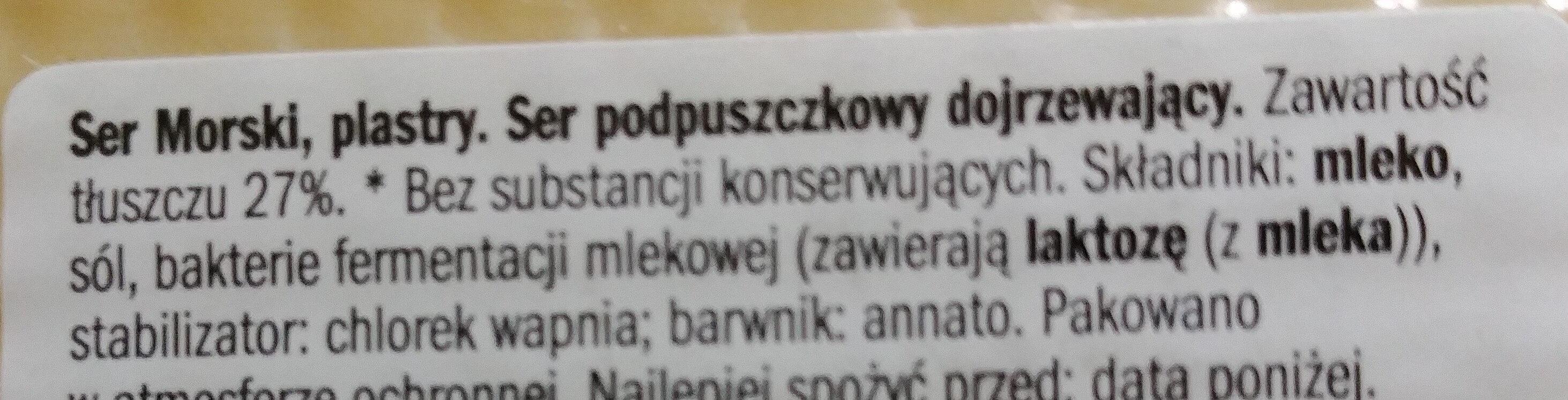 Ser Morski - Składniki