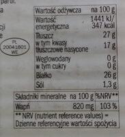 Ser Morski - Wartości odżywcze