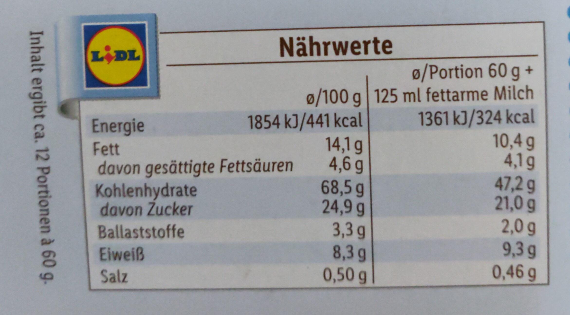 Milk Choco Bits - Nutrition facts - de