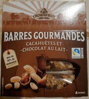 Barres gourmandes Cacahuètes et chocolat au lait - Product - fr