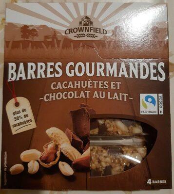 Barres gourmandes Cacahuètes et chocolat au lait - Product