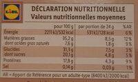 Barres gourmandes Cacahuètes et chocolat au lait - Nutrition facts - fr
