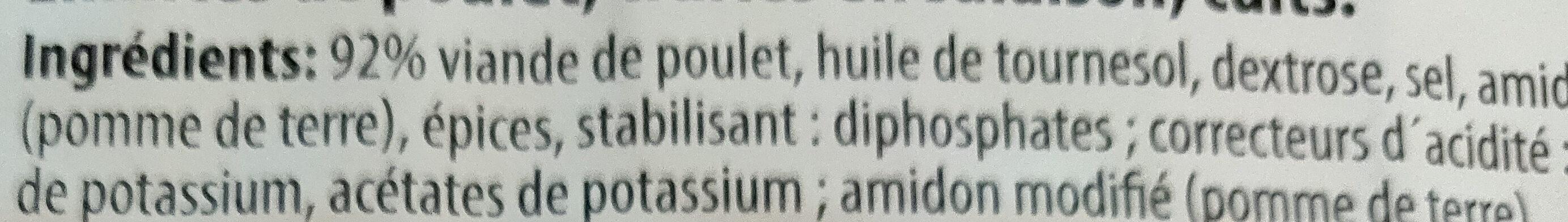 Emincés de Poulet - Ingrediënten - fr