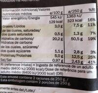 Paella de marisco - Información nutricional