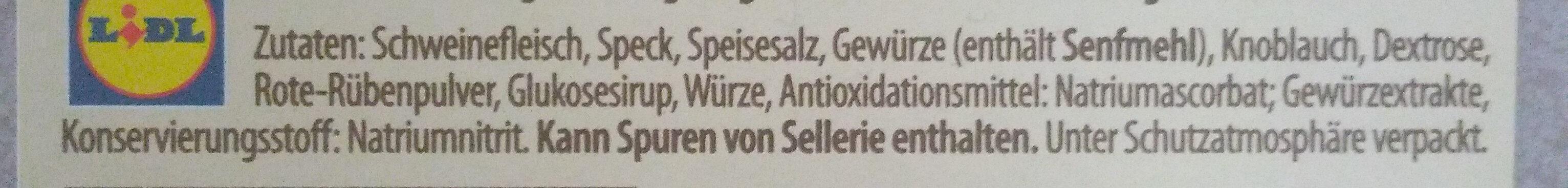 Bergsalami - Ingredients