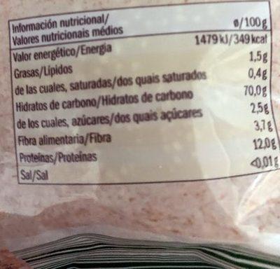 Couscous - Información nutricional - es