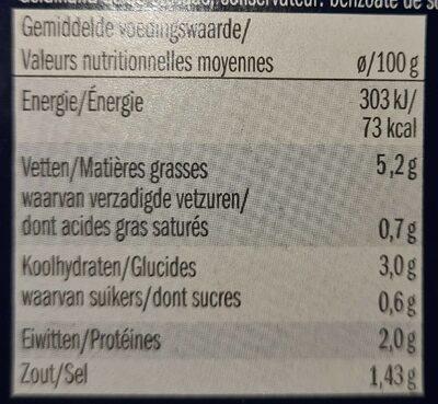 Couri di carciofo marinati - Informations nutritionnelles