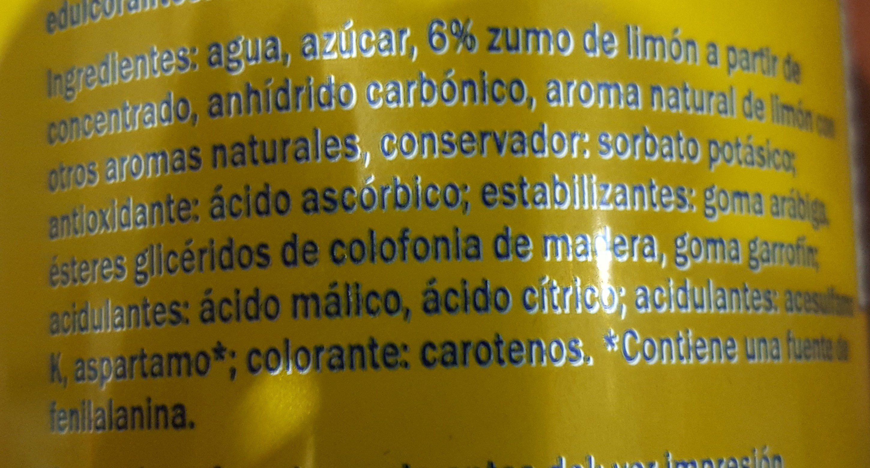 Lemon drink - Ingredients