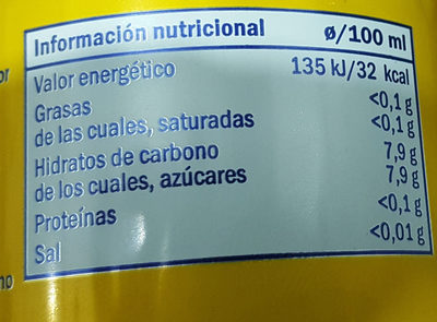 lemon drink - Informació nutricional