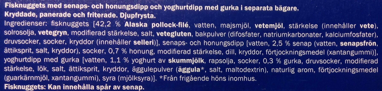 Ocean Sea Fisknuggets med dipp - Ingredients